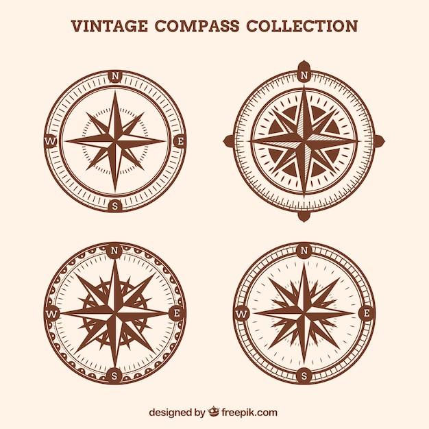 Коллекция урожая vintage Бесплатные векторы