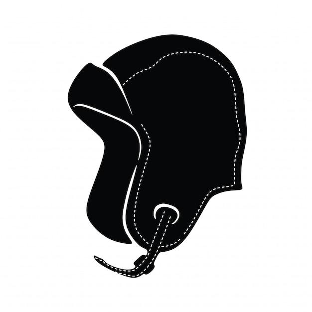 Классическая пилотная шляпа vintage Premium векторы