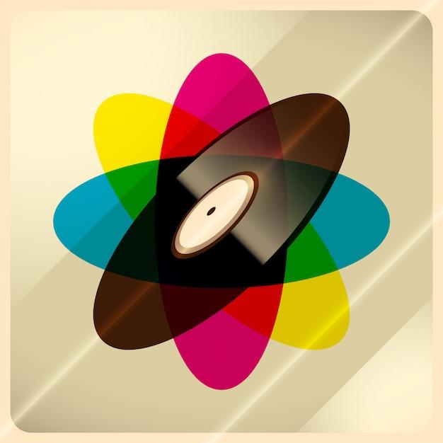 Vinyl background Premium Vector