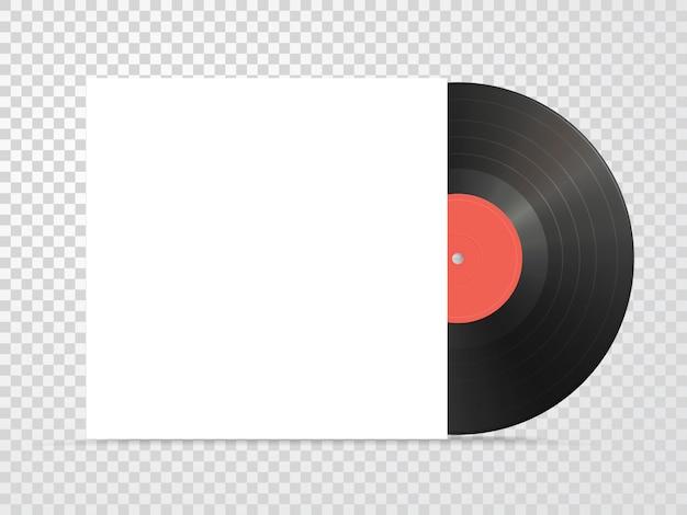 Vinyl and carton cover mockup Premium Vector