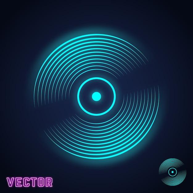 Vinyl record icon Premium Vector