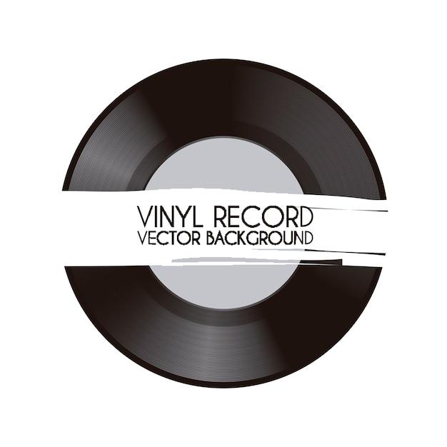 Vinyl record over white background vector illustration Premium Vector