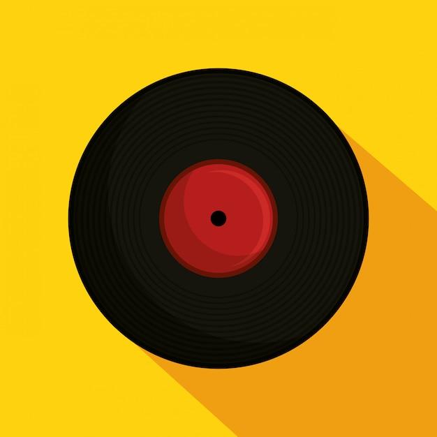 Винил ретро музыка иллюстрация Бесплатные векторы