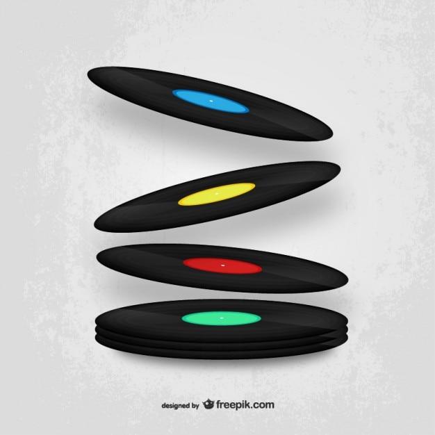 Vinyls вектор дизайн Бесплатные векторы