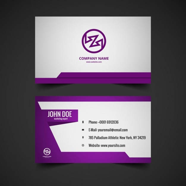 Violet color visiting card vector free download violet color visiting card free vector reheart Gallery