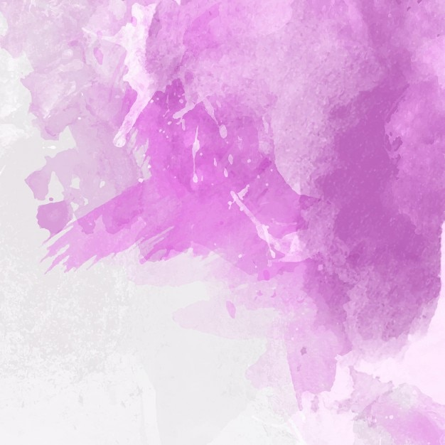 Violet Watercolor Background Free Vector
