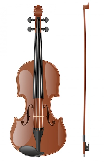 Violin vector illustration Premium Vector