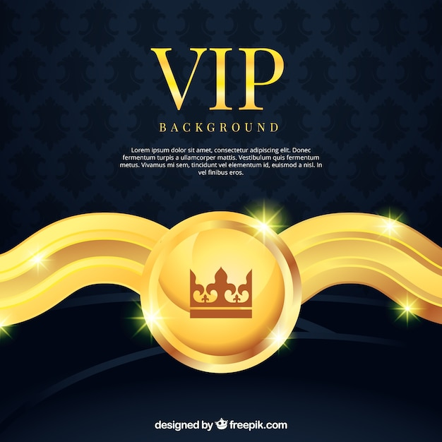 Vip background with golden decorative element