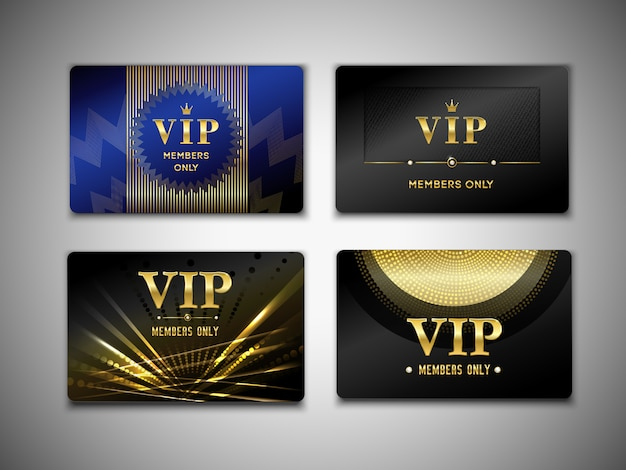 Vip cards template Free Vector
