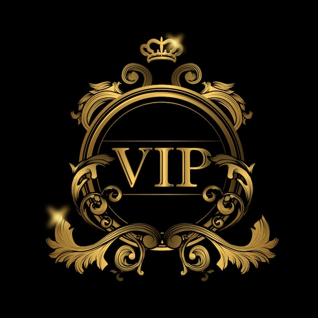 Vip golden logo Free Vector
