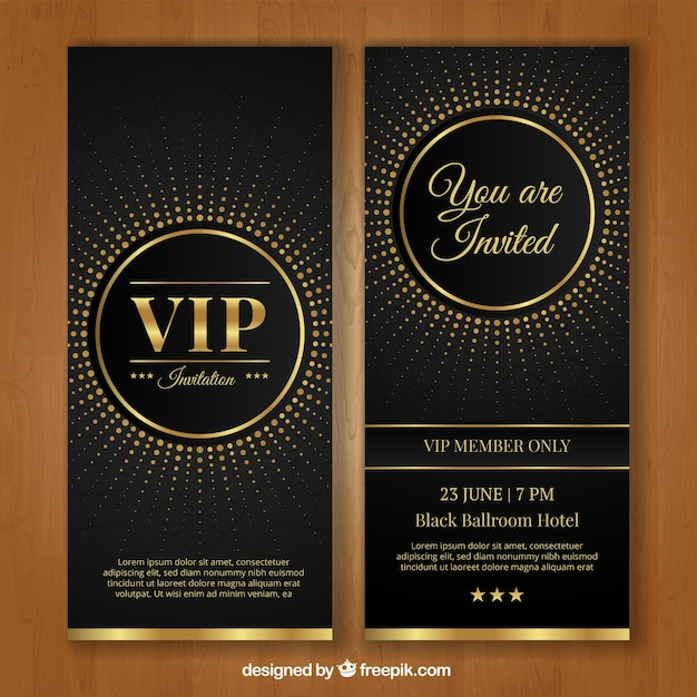 vip invitation template vector free download