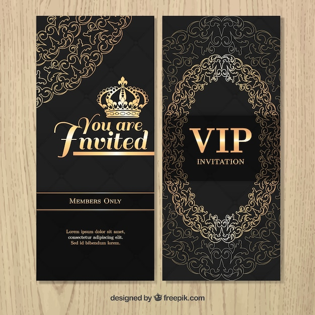 Vip luxury invitation with ornaments vector free download vip luxury invitation with ornaments free vector stopboris Choice Image