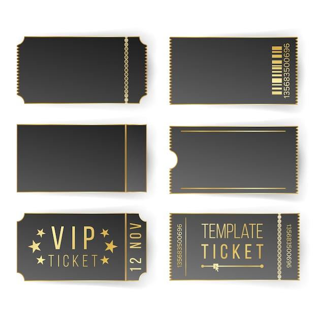 Vip ticket template set Premium Vector