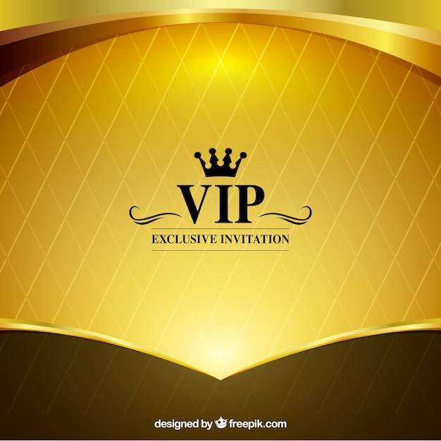 Яркий золотой фон vip Бесплатные векторы