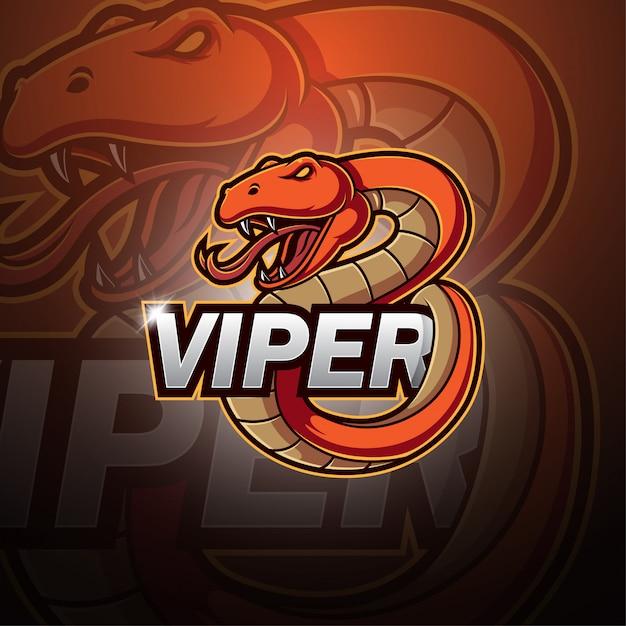 Viper esport талисман логотип Premium векторы