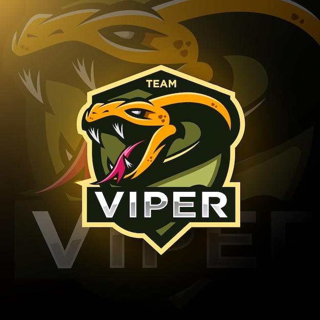 Viper змея игровой логотип киберспорт Premium векторы