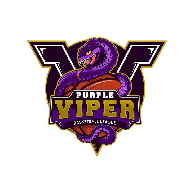 Баскетбольный талисман viper Premium векторы