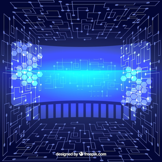 Virtual abstract technological background Free Vector