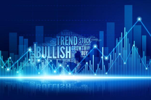 Virtual bull walking in the town of stock market Premium Vector