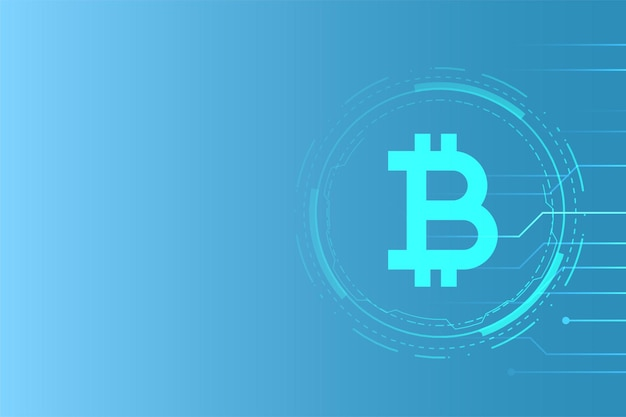 Virtual money bitcoin technology concept background Free Vector