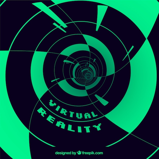 Virtual reality background with abstract\ shapes