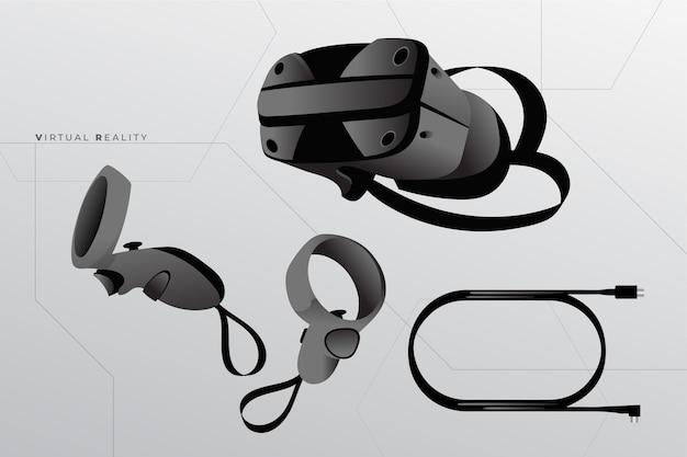 Оборудование виртуальной реальности Бесплатные векторы