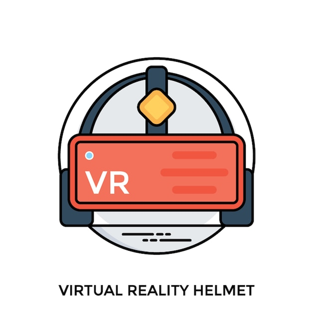 Virtual reality headset Premium Vector