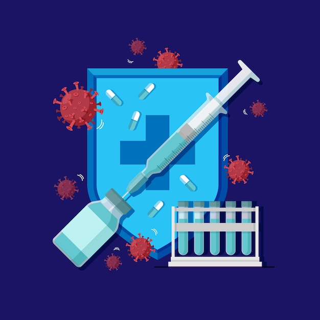 Concetto di cura del virus Vettore gratuito