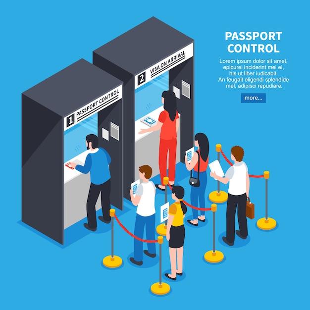 Visa center illustration Free Vector