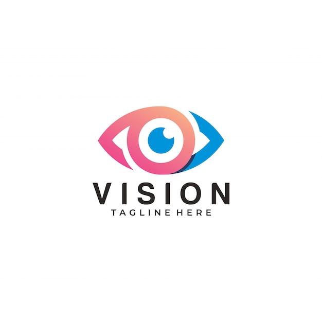 Vision logo eye icon app illustration Premium Vector