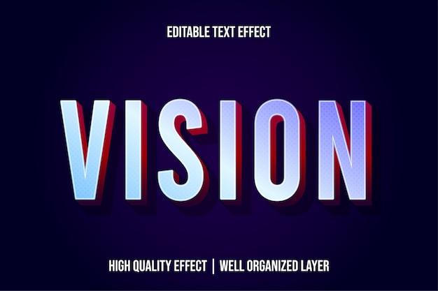 Vision современный стиль текстового эффекта Premium векторы