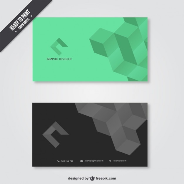 visit card for graphic designer vector free download