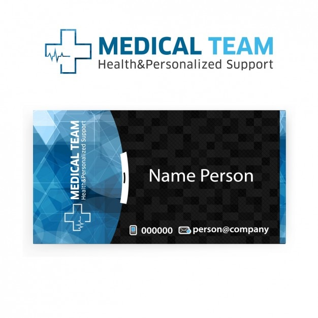 Visit card of medical team Free Vector