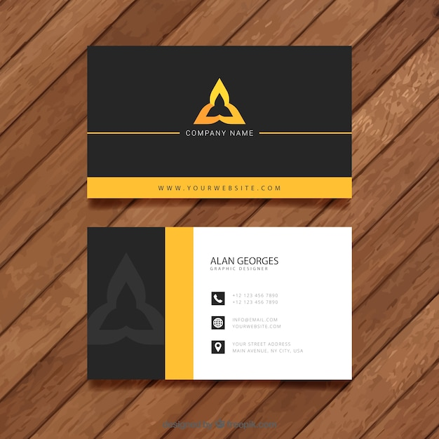 Visit card template Premium Vector
