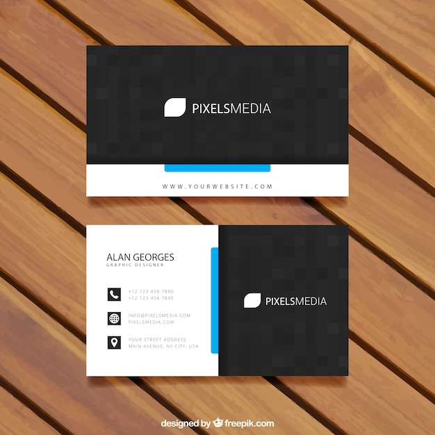 Visit card template Free Vector