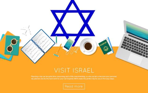 Visit israel concept for your web banner Premium Vector