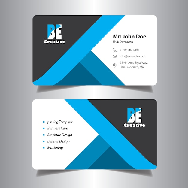 visiting card design for office vector premium download
