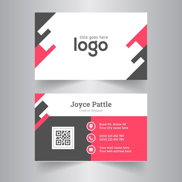 Visiting card template for office vector premium download visiting card template for office premium vector flashek Images