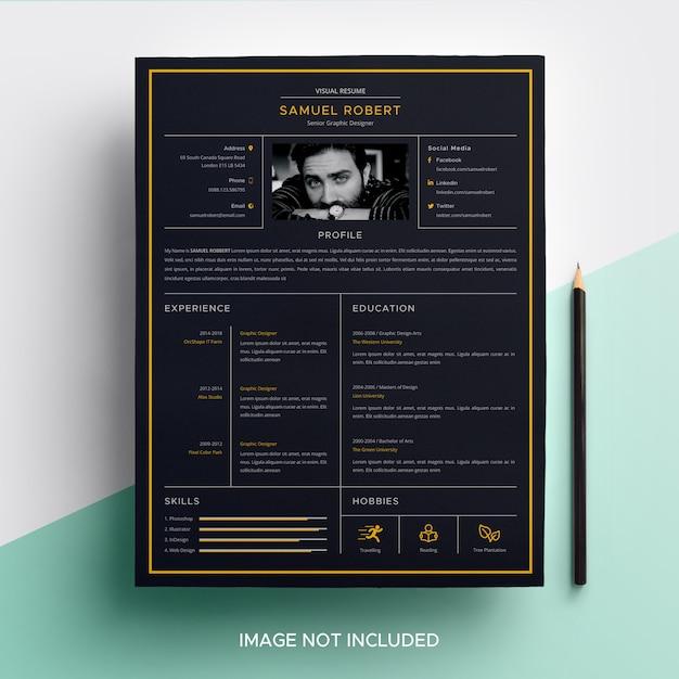 Visual cv resume template Vector | Premium Download