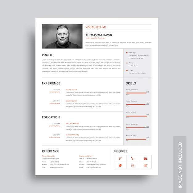 Visual resume template Vector | Premium Download