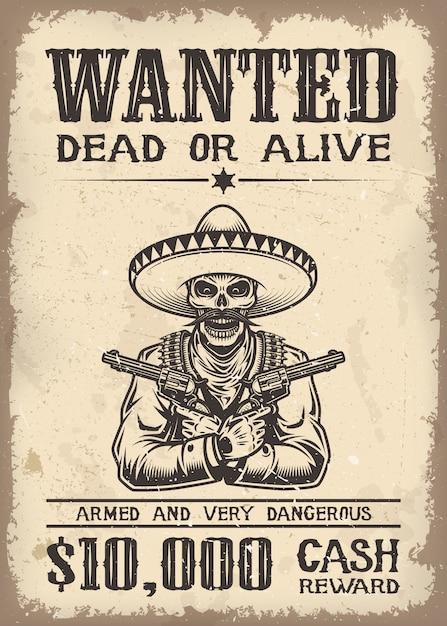 Vitage wild west ha voluto poster con sfondi di texture di carta vecchia Vettore gratuito