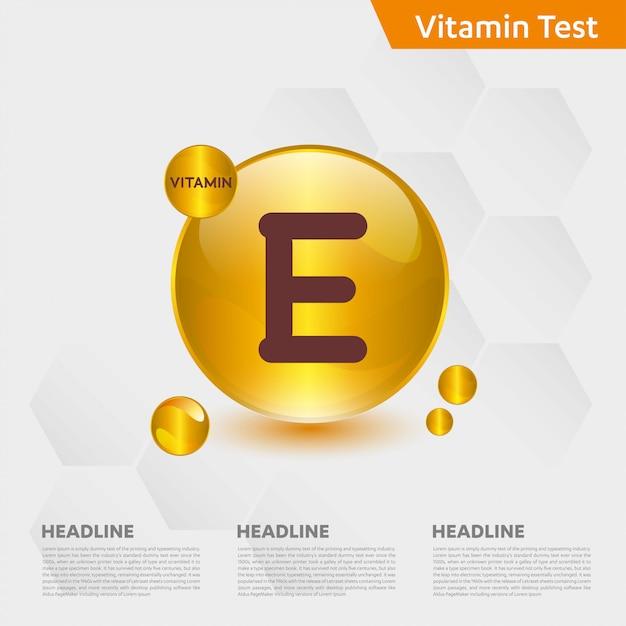 Vitamin e infographic template Premium Vector