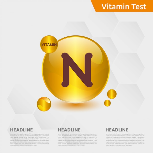 Vitamin n infographic template Premium Vector