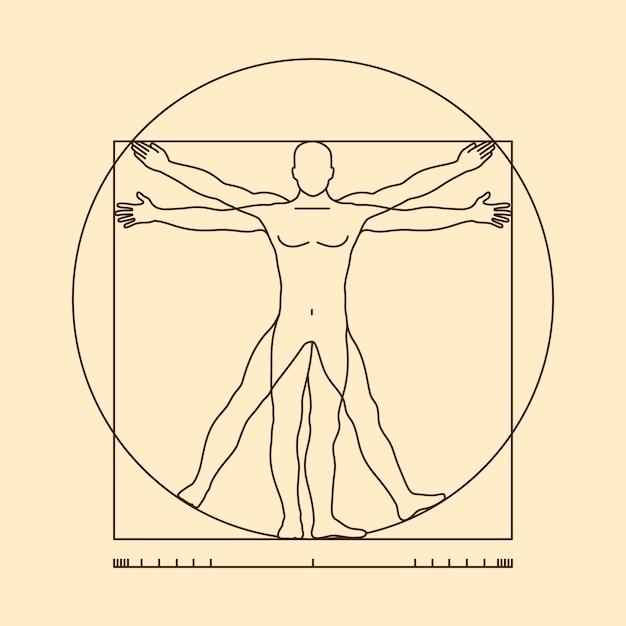 Vitruvian man illustration Premium Vector