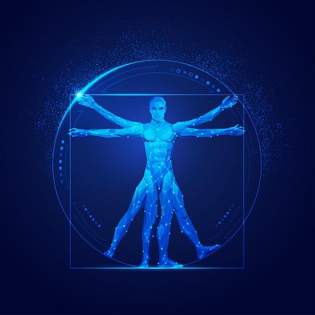 Vitruvian man Premium Vector