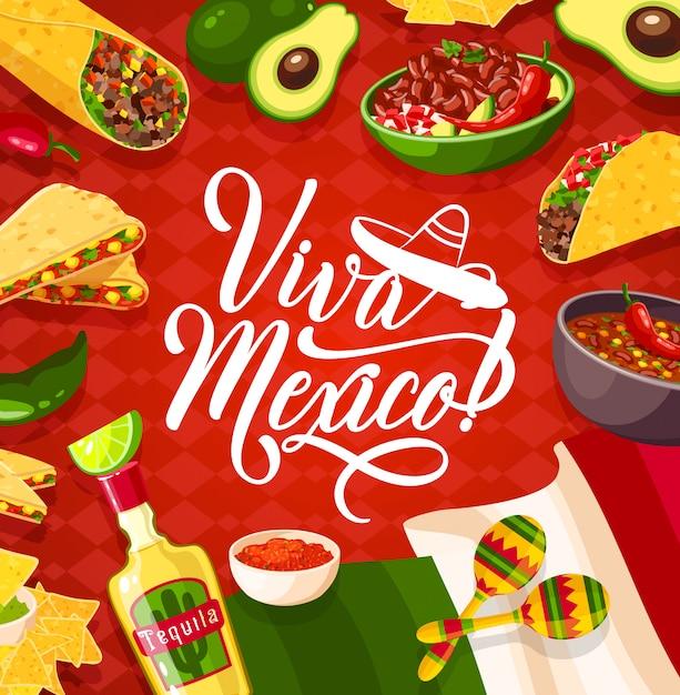 Viva mexico фон Premium векторы