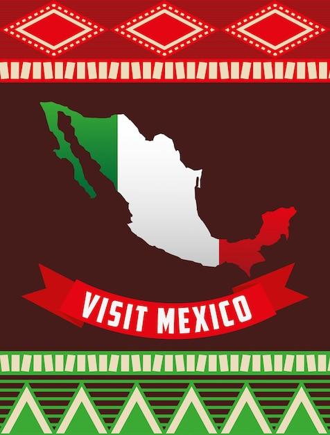 Viva mexico design Premium Vector