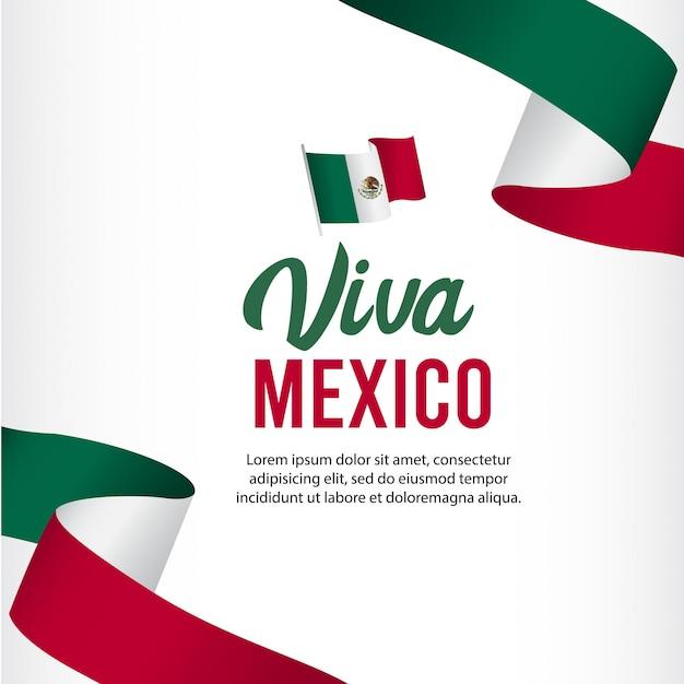 Шаблон дня независимости мексики. Premium векторы