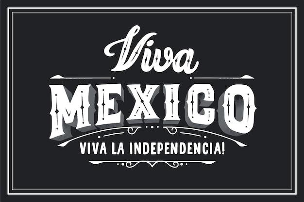 Viva мексика надписи на черном фоне Бесплатные векторы