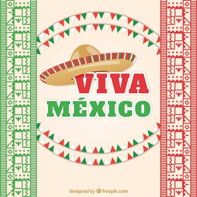 Viva mexico Free Vector